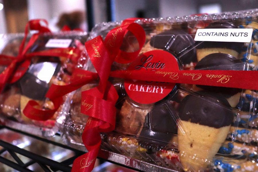 Lovin Oven Cakery has pre-packaged treats to bring home with you.