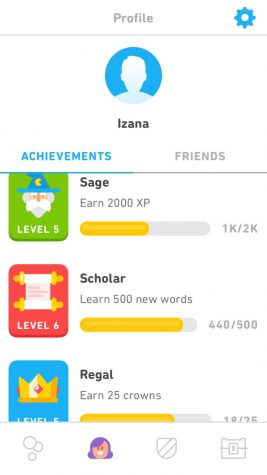 Duolingo users can earn achievements the more they learn a language.