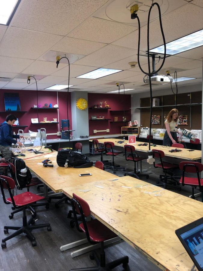 The Makerspace provides an abundance of activities for students to create.