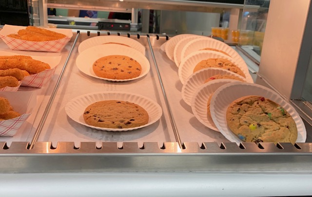 Cookies are the third most popular food bought at Antioch Community High School. Out of 39 responses, five people chose cookies or about 14 percent.