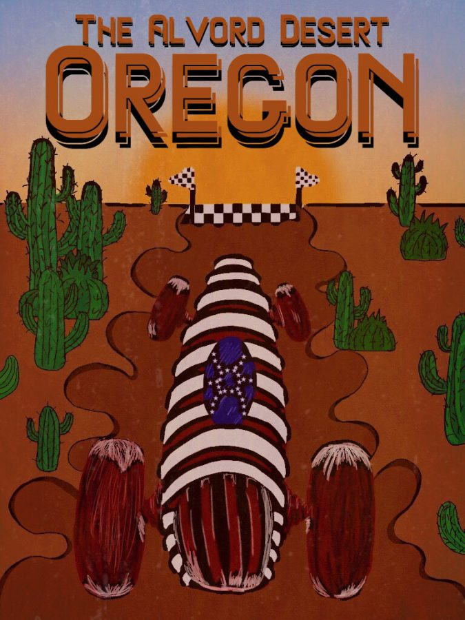 Jessi+Combs+drove+an+American+flag+decorated+car+in+her+attempt+to+set+a+new+record+on+August+27+at+the+Alvord+Desert+in+Oregon.