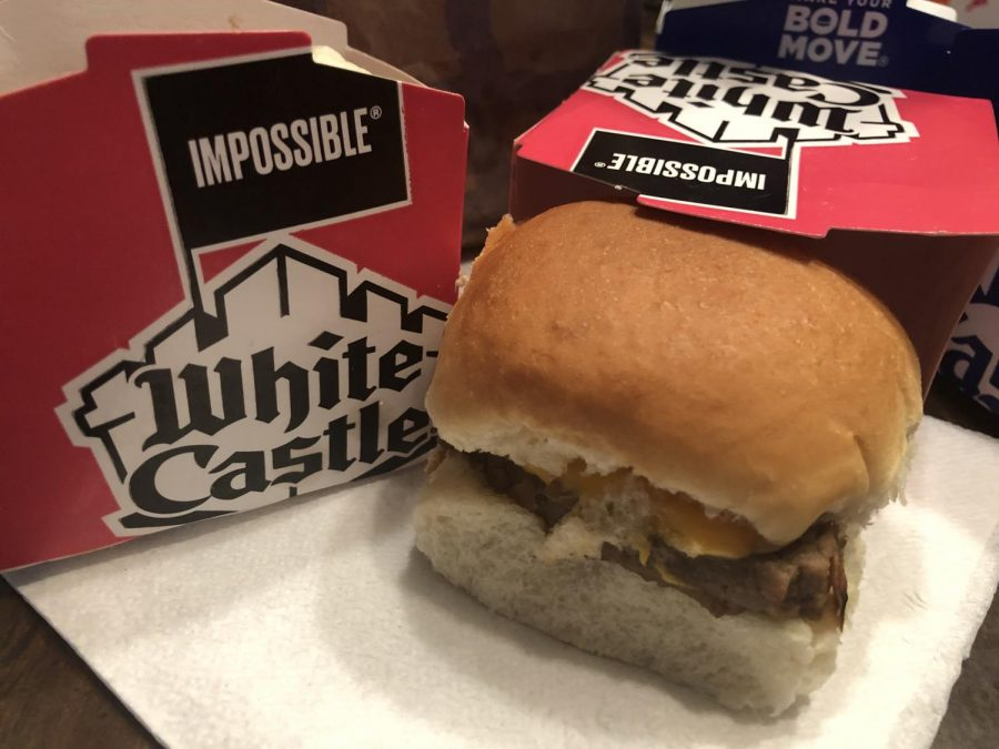 Both+White+Castle+and+Burger+King+offer+Impossible+Foods+plant-based+menu+items.+When+asked+on+how+the+Impossible+Whopper+tastes%2C+junior+Roger+Lopez+thinks+that+Impossible+burgers+have+their+taste+perfected.+%22It+takes+almost+exactly+like+a+normal+Whopper.%22