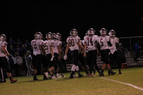 Sequoit offense walking onto the field just games before the playoffs will begin. With the Sequoits just beginning their playoff run they are ready for more.