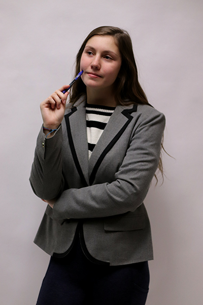 A pen and a blazer represent the future career I am ready to achieve and the adult hood that I cannot wait to take on.