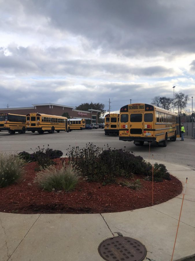 At Antioch Community High School, the buses park at the back of the school. The students who do not have rides to school and home from school are the ones that use the bus as a source of their transportation.