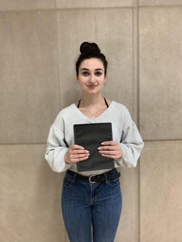 Junior Molly Adams is co-captain of the ACHS speech team. She always brings a binder with her speech written down inside to all of her competitions. Her binder helps her be ready to give her speech.
