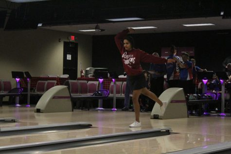 Senior Maya Schon goes for another strike against her rival, the last time she