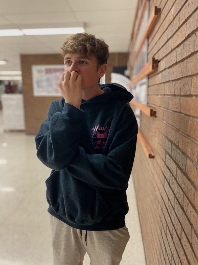Junior Logan Schlappi struggles managing his school work.