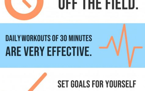 Off season training is a must if one wants to excel at sports. Above are few tips to help athletes stay on track off the field so one can be great on the field.