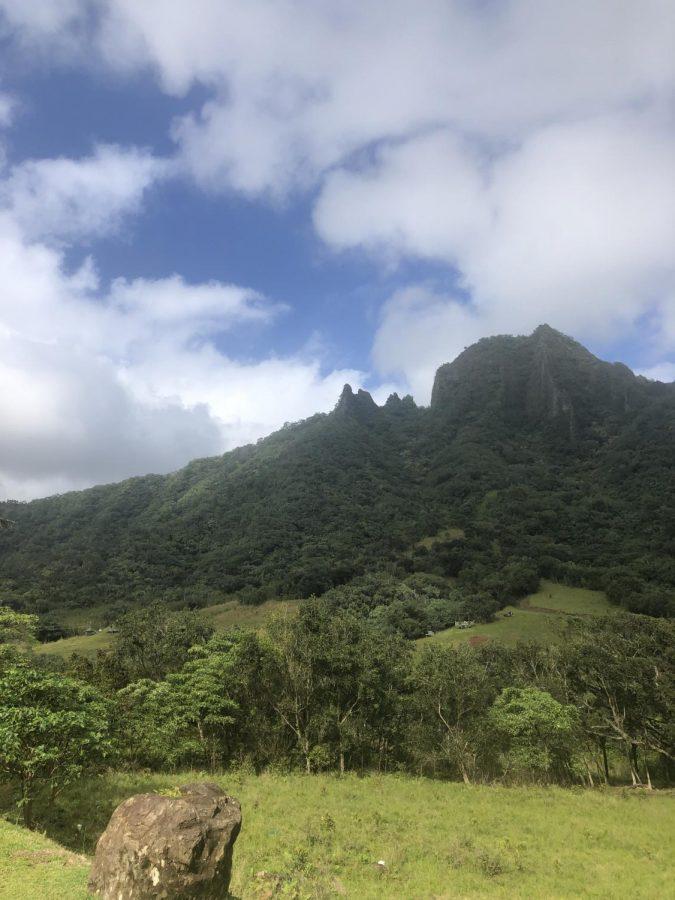 The mountain views from Kualoa Ranch on Oahu.
