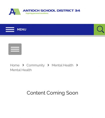 District 34's creation of the mental health section is incomplete. This leaves students wondering what is to come in the near future.