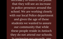 ACHS Principal Eric Hamilton made a statement regarding the local arrest.