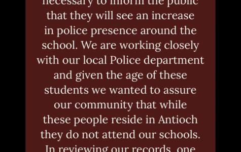 ACHS Principal Eric Hamilton made a statement regarding the local arrest.