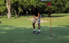 Senior Drew Lehn participated in the conference golf tournament as a varsity player.