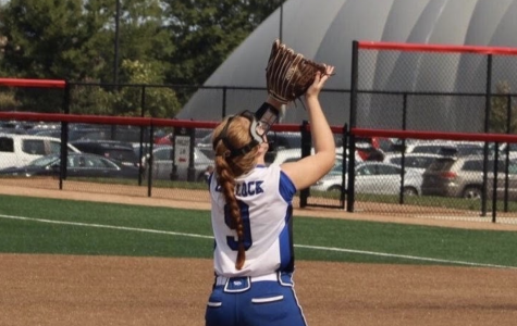 Junior Addie Narlock at her softball tournament in late September.