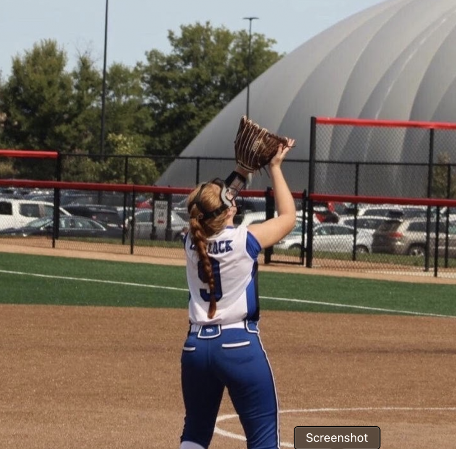 Junior Addie Narlock at her softball tournament in late September.