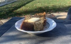 The final product of how the banana bread should turn out. It is a delicious treat during fall or any time of the year.
