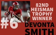 Alabama Crimson Tide junior wide receiver DeVonta Smith was awarded the 82nd Heisman Trophy on Tuesday, Jan. 5, 2021. Smith was the first wide receiver to win the trophy since 1991.