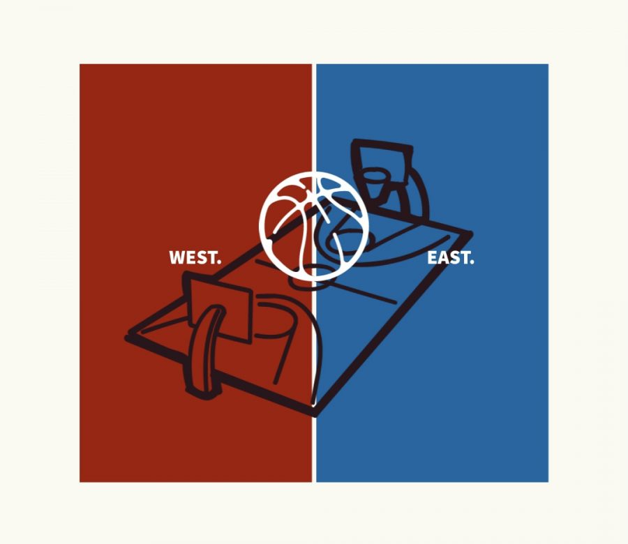 The+NBA+All-Star+Game+is+played+between+the+best+players+from+the+Eastern+Conference+and+best+players+from+the+Western+Conference.+