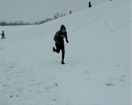 Runners Deal with Cold Weather