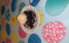 Pictured is a blueberry cobbler made by staffer Katie Quirke. This fresh and sweet treat is easy to make and pairs well with some vanilla ice cream!