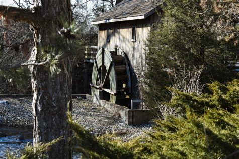 The Hiram Buttrick Sawmill was originally built in 1839. Today, a replica stands a few hundred feet away from the mill's original location.