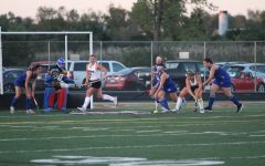 Seniors Katie Quirke and Faith Lacerba approach the goal in the Antioch vs Lakes field hockey game.