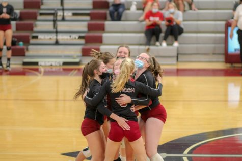 The girls volleyball team is back in action