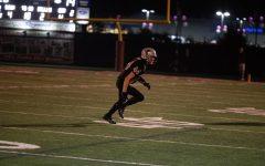 Senior Leo Reband defends along the 40 yard line.