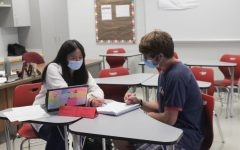ACHS students take advantage of using the new peer tutoring during school hours.